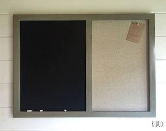 Large blackboard / Pinboard - Handmade.