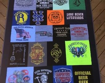 A Custom T-shirt Quilt