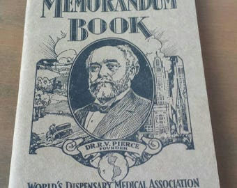 Dr. Pierce's Memorandum Book. Vintage book of crazy, interesting health and wellness info from the early 1900's.