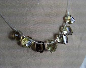 1 Strand Bio Smoky Lemon Quartz Rough Natural Faceted beads 15. grams 9X11 14X15 MM