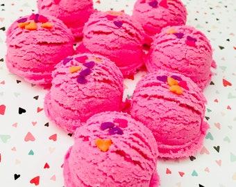 Pink Sugar Bath Truffles Set of Four