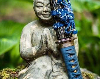 Handmade Japanese Sword, authentic, 'tanto', fine detailed, 55SI7 spring steel, full hardened, 50 HRC, sharpened