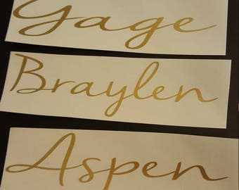 Custom Name Decal, Title Decal, Personalized Decal, Name Vinyl Decal, Title Vinyl Decal