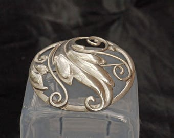 Antique Art Nouveau Brooch in 925 Silver