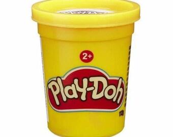 Jar of Play Doh - yellow
