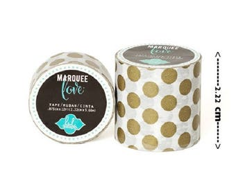 Masking tape / Washi tape - white and gold fancy