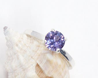 Alexandrite Ring, Alexandrite, Sterling Silver Ring, Gemstone Ring, Birthstone Ring, Color Change, Engagement Ring, Silver Ring, Size 5
