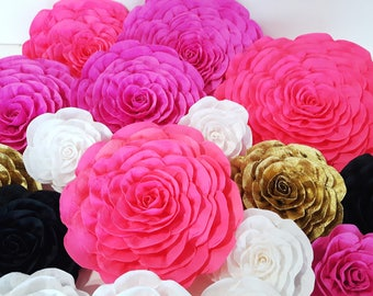 10 crepe paper flowers large Wall decor kate bridal baby shower spade pink lavander white Photo backdrop Wedding birthday wall party Nursery