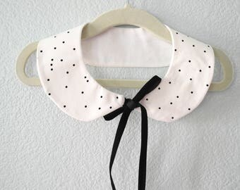 Black Dots Peter Pan Collar