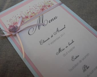 Menu variety | pastel wedding.