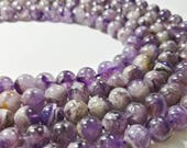 8 mm 10 mm Sage Amethyst , Purple Beads , Amethyst Gemstone Beads , Gemstones Beads , Semi Precious Beads , Wholesale  Beads , Beads