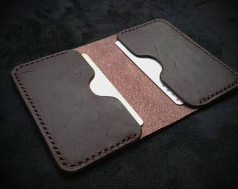 Wallet, PERSONALIZED Leather Wallet, Card Wallet, Mens Wallet, Womens Wallet, Minimalist Wallet, Handmade Gift Idea