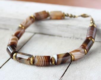 His Agate Bracelet