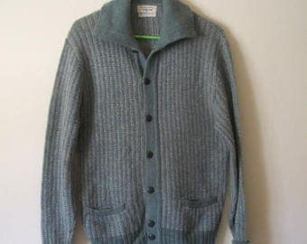 50s Button Down Green and Gray Sweater by Citation Club by Puritan Size 42