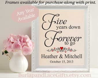 5th anniversary, 5th gift to wife, 5 years, 5 year wedding anniversary, 5th anniversary gift, forever to go, personalized, 5th (208)