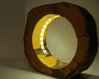 Kelo wood disc lamp 6 with LED
