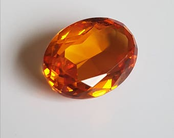 Large 20.3ct Oval 20 x 15mm  Vivid Orange Citrine
