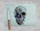 Floral Skull Chopping Board