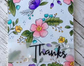 Thank You Card, Handmade Greeting Card