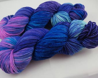 Hand Dyed Yarn, Worsted, Merino, Some Funky PURPLE, Indie Dyed Knitting