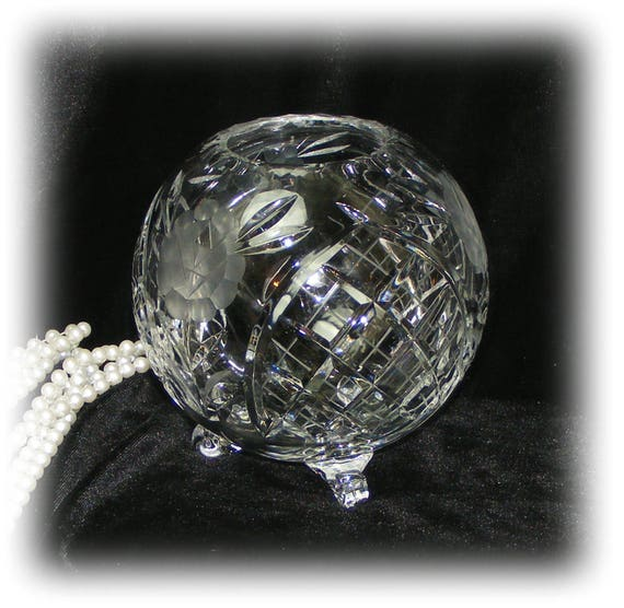 Exquisite Vintage CRYSTAL CANDLE BOWL (The Smaller One)