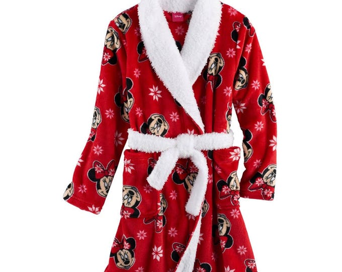 Disney's Minnie Mouse Girls 4-8 Snuggle Robe- Personalized Monogrammed
