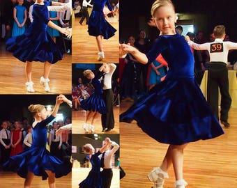 "Juvenile Ballroom Dancing Dress ""Scarlett"""