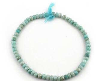 Mega Sale 1 Strand Amazonite Silver Coated Faceted Rondelles Beads 8mm 63 Beads 14 Inch SB1986
