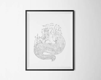 Queen of the nature - print