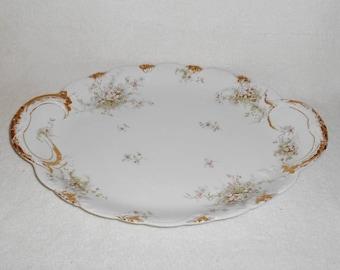 "Theodore Haviland Limoges France Apple Blossom Schleiger 146 Pattern 16"" Oval Platter"