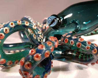 Functional Glass Art Octopus Pipe