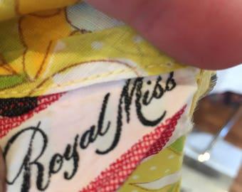60s yellow daisy drop waist mini dress