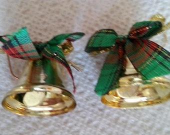 B#296  Christmas Bells handmade earrings