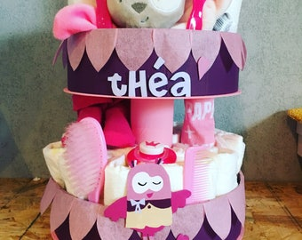 Customizable diaper cake p 'Titus z' OWL