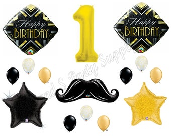 MR. ONE-DERFUL Mustache 1st Birthday Party Balloons Decoration Supplies First