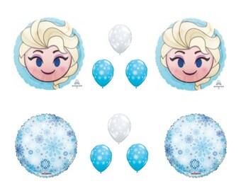 ELSA EMOJI Frozen Snowflakes Disney Movie BIRTHDAY Party Balloons Decorations Supplies