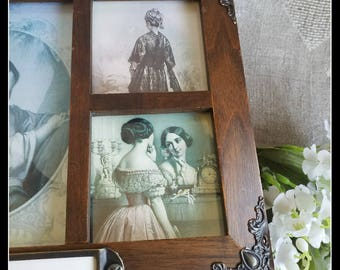Handmade altered Victorian-style big wooden jewelry box