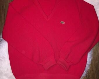 Vintage Izod Lacoste Orlon V Neck Sweater