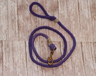 4 FT Purple Rope Dog Leash