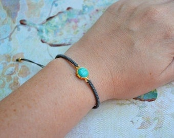 Turquoise Bracelet|Turquoise Jewelry|Gemstones Bracelets|Macrame Bracelets|Knotted Bracelet|Daughter Bracelet|Everyday Bracelet|Turquoise