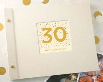 Personalised 30th Birthday Photo Album
