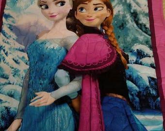 Handmade Disney's Frozen Elsa and Anna quilt