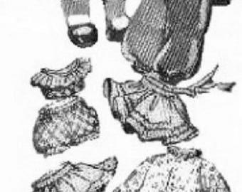 "Copy of Alice Brooks 10"" Doll pattern with Wardrobe"