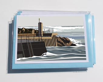 Pack of 6 Yorkshire Coast Cards - Staithes.1