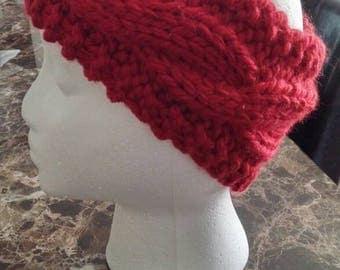 Chunky cable knit headband