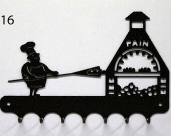 Hangs 26 cm pattern metal keys: Baker