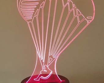 Lamp 3D pattern: paragliding