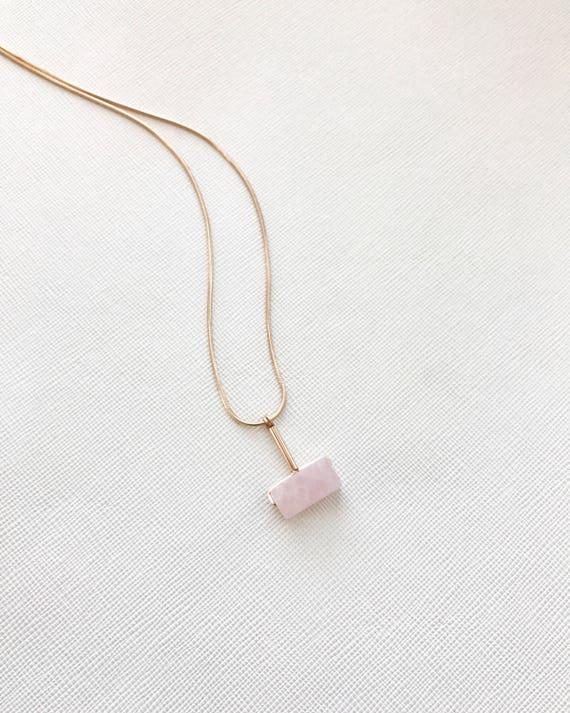 LAZLO necklace -  Rose Quartz
