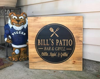 Custom Patio Sign, Bar And Grill Sign, Fatheru0027s Day Gift, Gift For Him