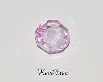 1 x 20mm purple faceted acrylic bead